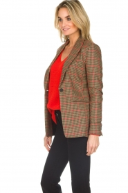 Set |  Blazer with houndstooth print Bello | brown  | Picture 5
