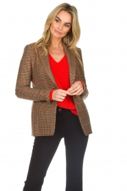 Set |  Blazer with houndstooth print Bello | brown  | Picture 4
