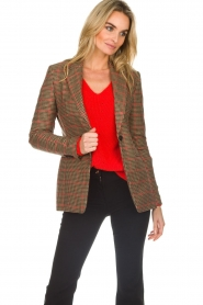 Set |  Blazer with houndstooth print Bello | brown  | Picture 2