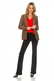 Set |  Blazer with houndstooth print Bello | brown  | Picture 3