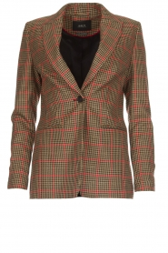 Set |  Blazer with houndstooth print Bello | brown  | Picture 1