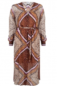 Dante 6 |  Maxi dress with print Arlette | brown  | Picture 1
