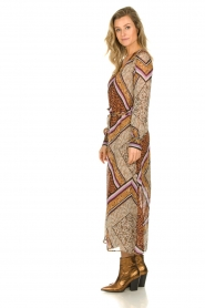 Dante 6 |  Maxi dress with print Arlette | brown  | Picture 5