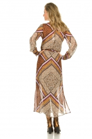 Dante 6 |  Maxi dress with print Arlette | brown  | Picture 6