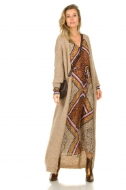 Dante 6 |  Maxi dress with print Arlette | brown  | Picture 3