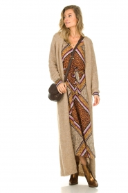 Dante 6 |  Maxi dress with print Arlette | brown  | Picture 7