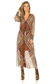 Dante 6 |  Maxi dress with print Arlette | brown  | Picture 4