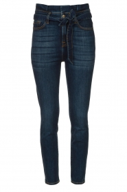 7 For All Mankind |  Slim paperbag jeans Soho | dark blue  | Picture 1