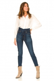 7 For All Mankind |  Slim paperbag jeans Soho | dark blue  | Picture 2