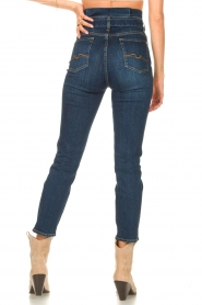 7 For All Mankind |  Slim paperbag jeans Soho | dark blue  | Picture 7