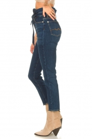 7 For All Mankind |  Slim paperbag jeans Soho | dark blue  | Picture 6