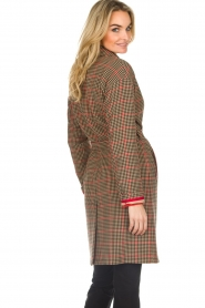Set |  Coat with houndstooth print Vay | brown  | Picture 5