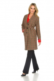 Set |  Coat with houndstooth print Vay | brown  | Picture 3