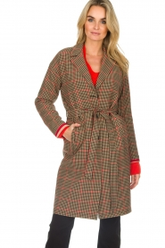 Set |  Coat with houndstooth print Vay | brown  | Picture 2