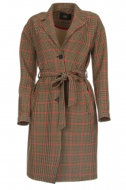 Set |  Coat with houndstooth print Vay | brown  | Picture 1