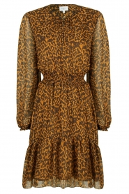 Dante 6 |  Dress with panther print Okala | brown  | Picture 1