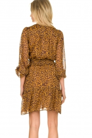 Dante 6 |  Dress with panther print Okala | brown  | Picture 6