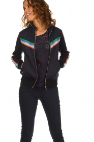 Set |  Jacket with sporty stripes Emily | blue  | Picture 2