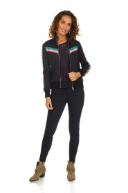 Set |  Jacket with sporty stripes Emily | blue  | Picture 3