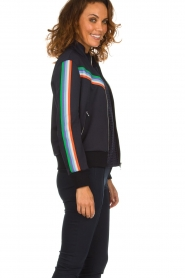 Set |  Jacket with sporty stripes Emily | blue  | Picture 4