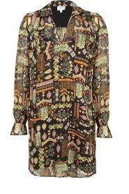 Dante 6 |  Midi dress with print Idetta | black  | Picture 1