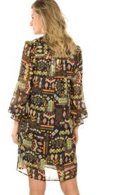 Dante 6 |  Midi dress with print Idetta | black  | Picture 6