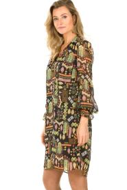 Dante 6 |  Midi dress with print Idetta | black  | Picture 5