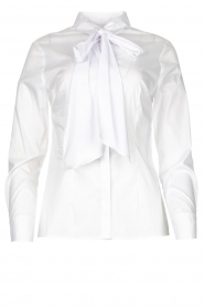 Nenette |  Blouse with bow detail Fama | white  | Picture 1