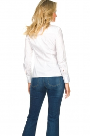 Nenette |  Blouse with bow detail Fama | white  | Picture 6