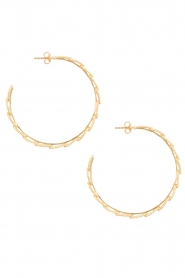 14k gold plated hoop earrings feather | Gold