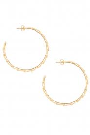Betty Bogaers | 14k verguld gouden oorringen Feather Hoop | Goud  | Afbeelding 2