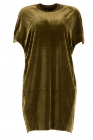 By Malene Birger | Velvet jurk Nitrak | groen  | Afbeelding 1