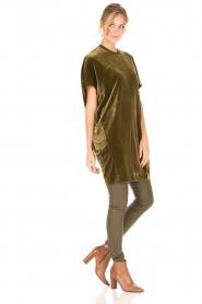 By Malene Birger | Velvet jurk Nitrak | groen  | Afbeelding 3