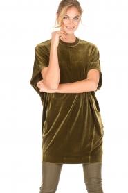 By Malene Birger | Velvet jurk Nitrak | groen  | Afbeelding 2