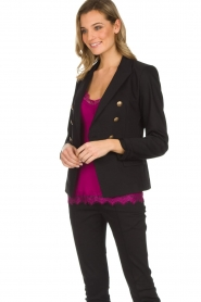 Set |  Double-breasted blazer Jenthe | black  | Picture 4