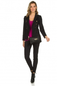 Set |  Double-breasted blazer Jenthe | black  | Picture 3