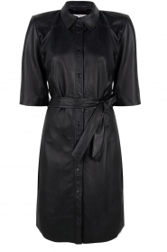 Dante 6 |  Leather dress Baroon | black  | Picture 1