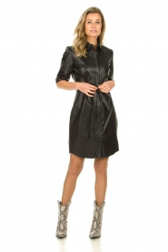 Dante 6 |  Leather dress Baroon | black  | Picture 3
