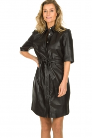 Dante 6 |  Leather dress Baroon | black  | Picture 4