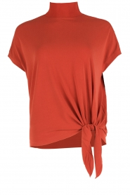 By Malene Birger | Turtleneck top Bulon | roest rood