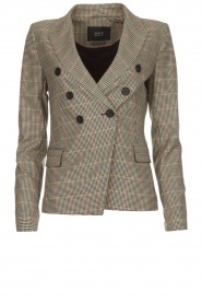 Set |  Houndstooth blazer Louise | brown  | Picture 1