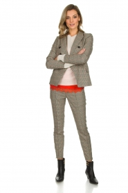 Set |  Houndstooth blazer Louise | brown  | Picture 3