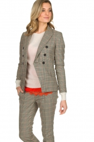 Set |  Houndstooth blazer Louise | brown  | Picture 5