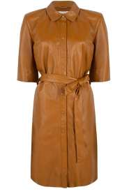 Leather dress Baroon | camel