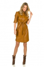 Dante 6 |  Leather dress Baroon | camel  | Picture 3