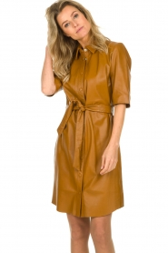 Dante 6 |  Leather dress Baroon | camel  | Picture 2