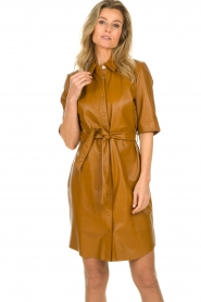 Dante 6 |  Leather dress Baroon | camel  | Picture 4