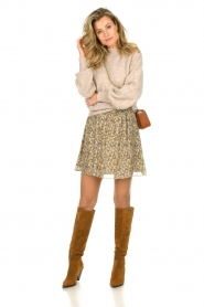 Dante 6 |  Sweater with balloon sleeves Valkon | beige  | Picture 3