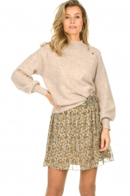 Dante 6 |  Sweater with balloon sleeves Valkon | beige  | Picture 2
