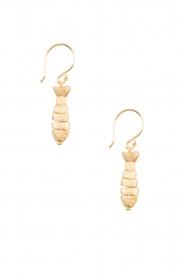 Betty Bogaers | 14k verguld gouden oorbellen Fish Hook | Gold | Afbeelding 2